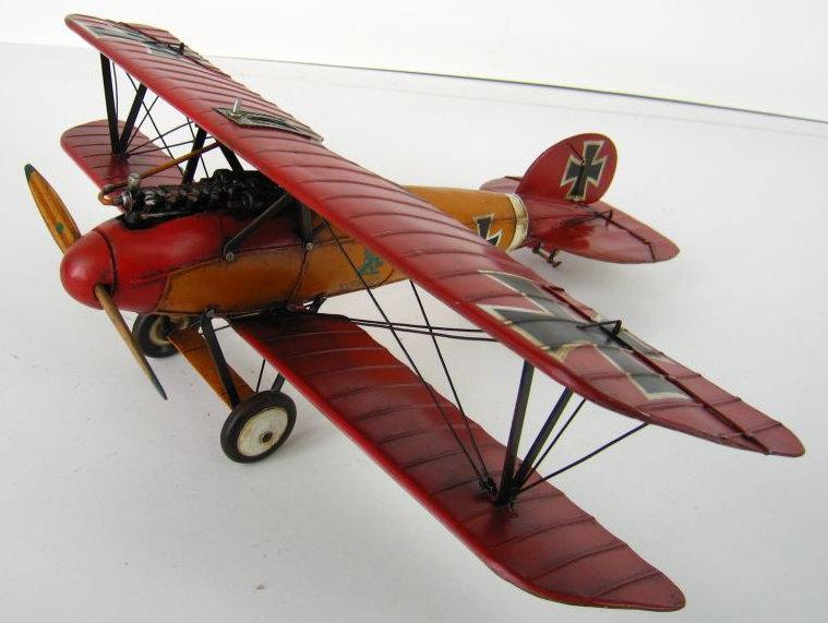 Flugzeug Roter Albatros 1917, 1.Wk. Blechmodell